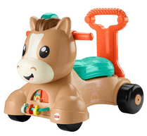 Fisher-Price Walk Bounce & Ride Pony, infant to toddler musical walker and ride-on toy