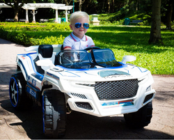 Kid Motorz Dune Runner 2 Seater Space Adventure 12V Electric Ride On with Sound