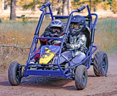 Coleman Powersports Off Road Go Kart, Gas Powered, 196cc/6.5hp, Blue