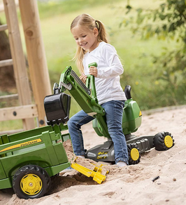 rolly toys John Deere Ride-On: 360-Degree Excavator Shovel/Digger