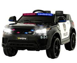 Uenjoy 12V Kids Police Ride On Car SUV Battery Operated Electric Car