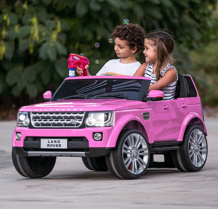 Best Choice Products 12V 3.7 MPH 2-Seater Licensed Land Rover Ride On Car Toy w/ Parent Remote Contr