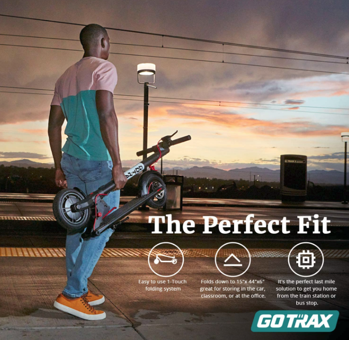 """Gotrax GXL V2 Commuting Electric Scooter - 8.5"""" Air Filled Tires - 15.5MPH & 9-12 Mile Range"""