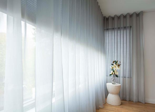 Sheer Grey Curtain