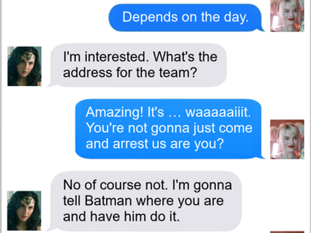 Texts From Superheroes: RSVP
