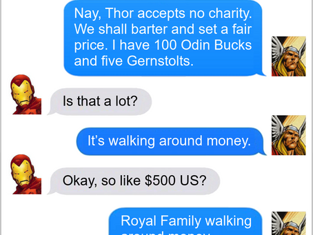 Texts From Superheroes: Exchange Rate