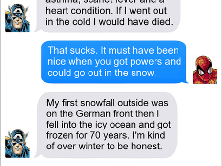 Texts From Superheroes: Capsicle