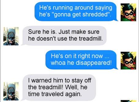 Texts From Superheroes: Shredded