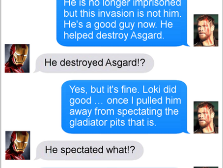 Texts From Superheroes: The More Things Change (Spoilers for Thor Ragnarok)