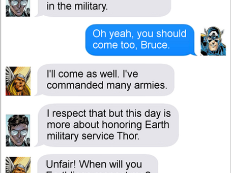 Texts From Superheroes: Memorial Day