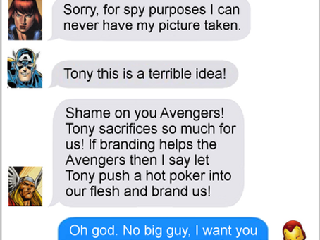Texts From Superheroes: Branding