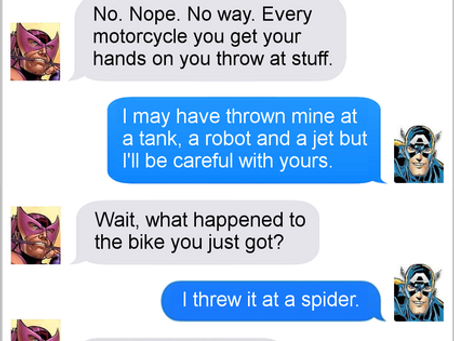 Texts From Superheroes: Cap Attack