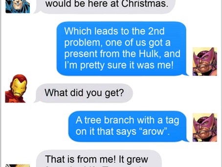 Texts From Superheroes: The Thought That Counts