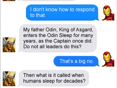 Texts From Superheroes: Nap Time