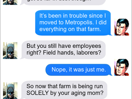 Texts From Superheroes: Investment
