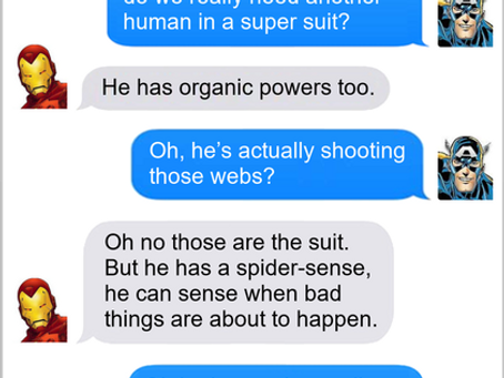 Texts From Superheroes: We're All Spider-Man