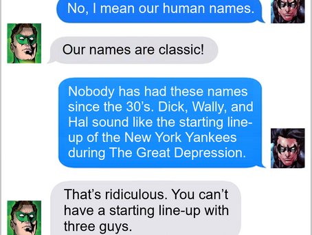 Texts From Superheroes: New Line-Up