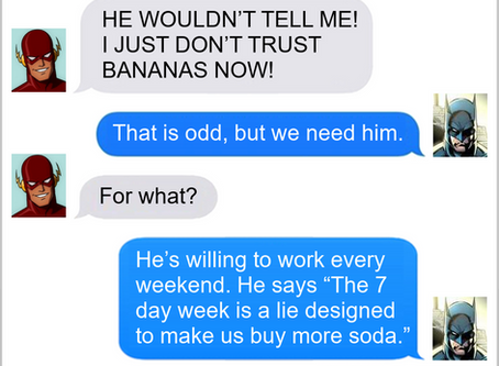 Texts From Superheroes: Think About It