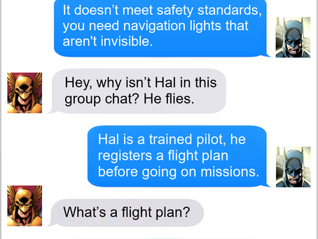 Texts From Superheroes: The Limit's the Sky