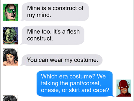 Texts From Superheroes: Costume Swap