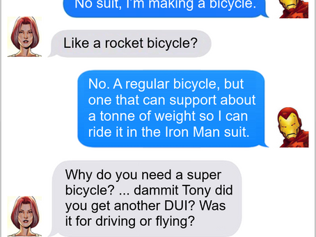 Texts From Superheroes: Transportation