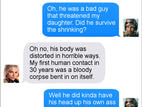 Texts From Superheroes: We Don't Discuss That