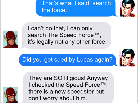 Texts From Superheroes: May The Speed Force Be With You