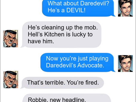 Texts From Superheroes: PUNishable Offence