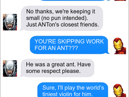 Texts From Superheroes: Show Respect