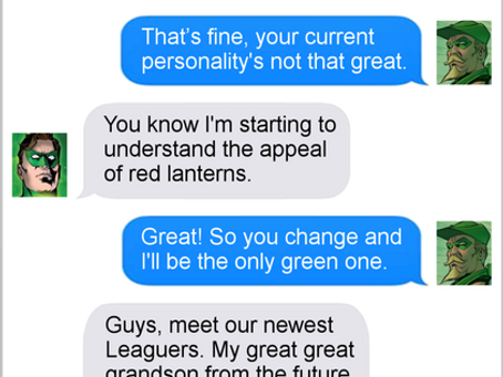 Texts From Superheroes: Color Scheme