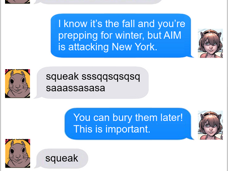 Texts From Superheroes: Work For Peanuts