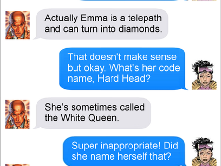 Texts From Superheroes: X-Mentor