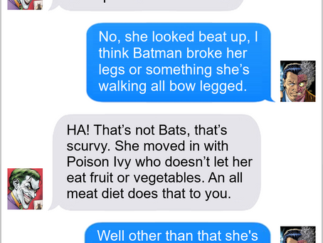 Texts From Superheroes: Roll With It