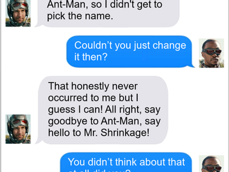 Texts From Superheroes: First Draft