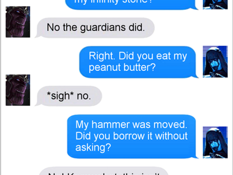 Texts From Superheroes: Odd Couple