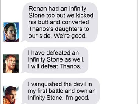 Texts From Superheroes: The Big Leagues