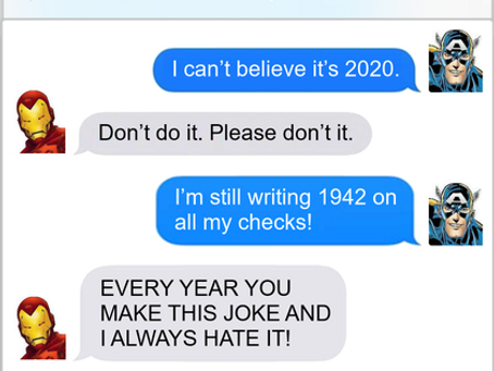 Texts From Superheroes: New Year's Tradition
