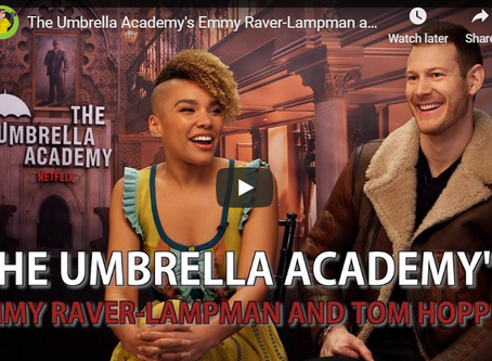 Interview With The Umbrella Academy's Emmy Raver Lampmam and Tom Hopper (Video)