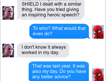 Texts From Superheroes: Respect Your Elders (FAR FROM HOME SPOILERS)