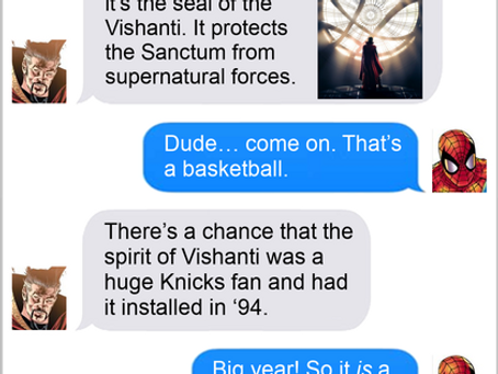 Texts From Superheroes: Having A Ball