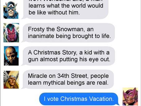 Texts From Superheroes: Movie Night