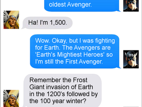Texts From Superheroes: First!