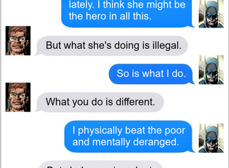 Texts From Superheroes: Save The World