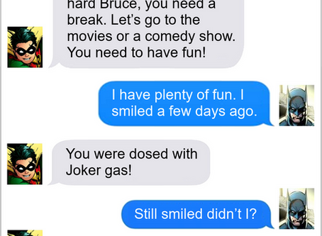 Texts From Superheroes: Stay Positive