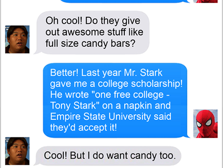 Texts From Superheroes: Trick Or Eating