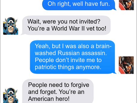 Texts From Superheroes: Free Not To Go