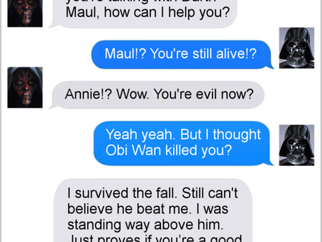 Texts From Superheroes: The Best of Star Wars