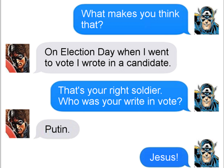 Texts From Superheroes: Voted