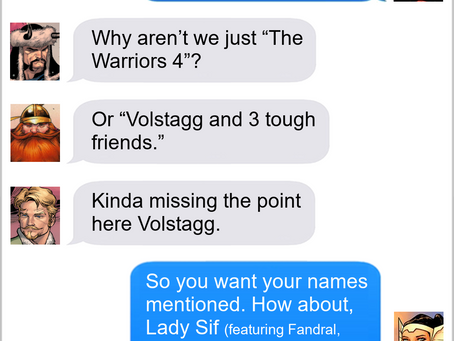 Texts From Superheroes: Top Billing