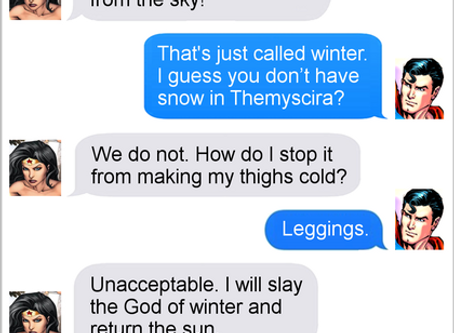 Texts From Superheroes: Winter Is Coming